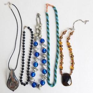 Vintage Modern Glass/ Plastic Beaded Necklace Lot